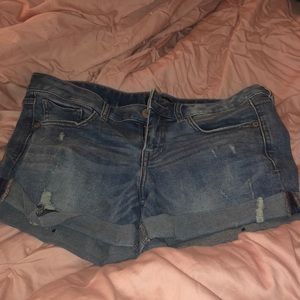 Express mini shorts
